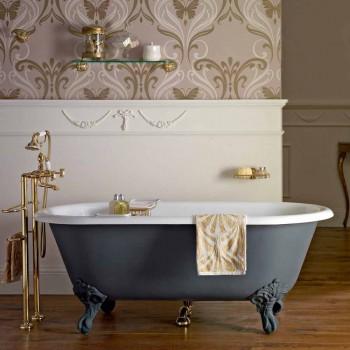 Bañera independiente de diseño vintage en hierro fundido, Made in Italy - Naima
