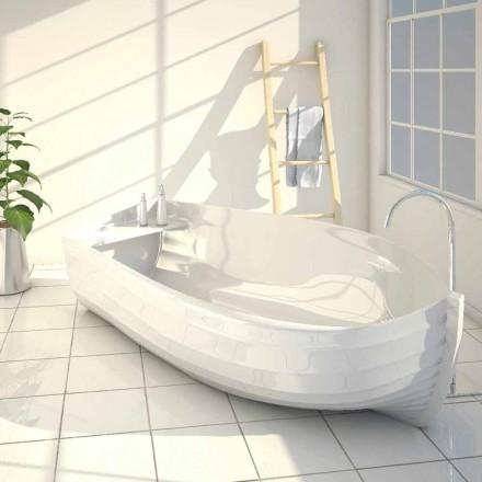 Bañera de diseño con forma de barca hecha en Italia Ocean