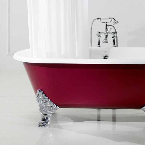 bañera independiente con patas de hierro fundido Salón