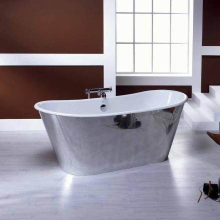 Bañera independiente chapado de aluminio fundido Ida