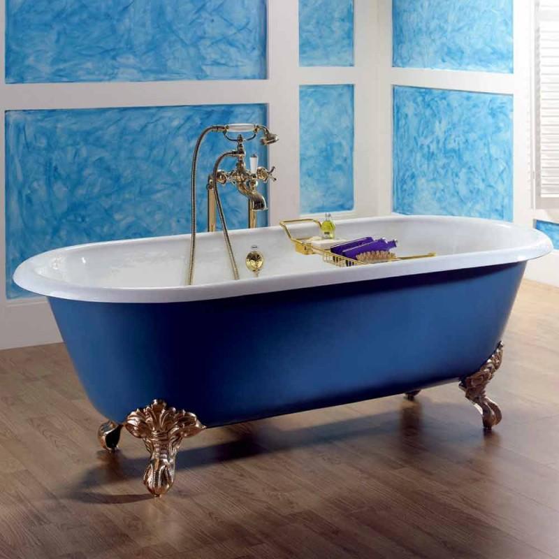 Bañera de hierro fundido pintado autoportante con los pies Diane