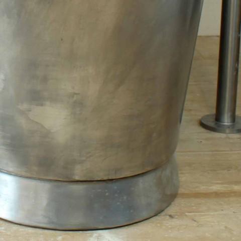 Bañera independiente baño de cobre acabado en níquel Julia