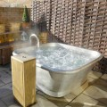 Bañera independiente de cobre revestido de hierro blanco Annie
