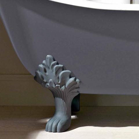 Bañera independiente vintage con pies, en hierro fundido - Nadine