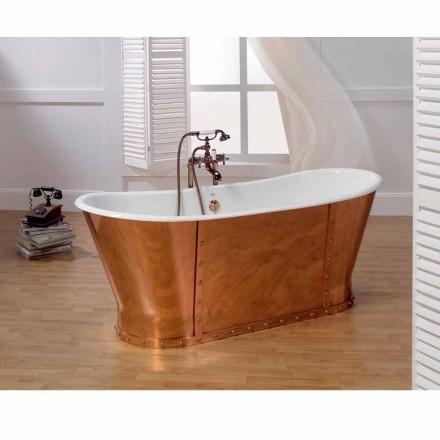 Bañera plateado baño de hierro fundido externamente Henry cobre