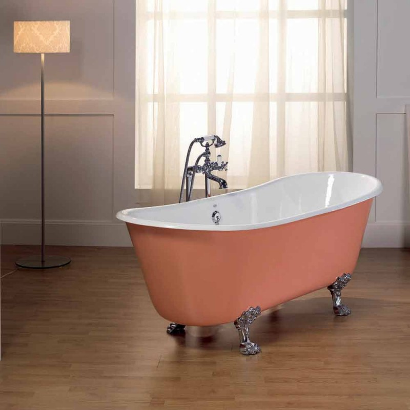 bañera de hierro fundido con pies de Melissa