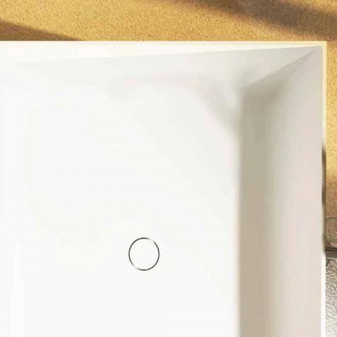 Bañera cuadrada independiente hecha en Italia por el diseño de Argentera