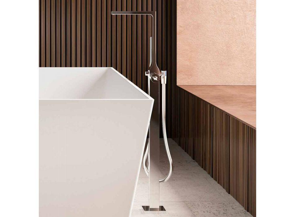 Bañera independiente, brillante / mate, blanca con dos tamaños - Alambre