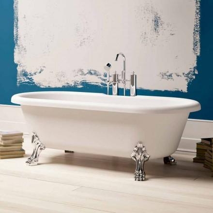 Bañera independiente de diseño, patas con acabado cromado - Gratis