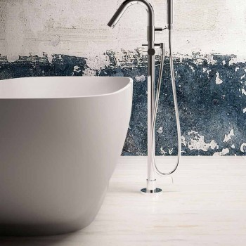 Bañera moderna independiente, diseño de superficie sólida - Enlace