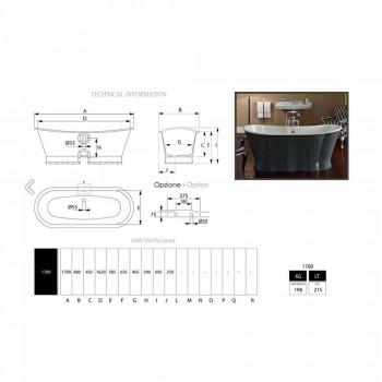 bañera independiente de hierro fundido con un diseño original de Cox