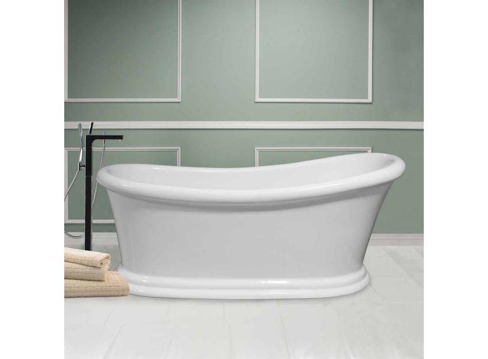 Baño blanco moderno independiente acrílico invierno 1710x730 mm