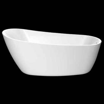 bañera independiente moderna en acrílico blanco 1730x775 mm Abbie