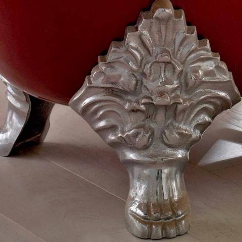 Bañera independiente vintage con pies de hierro fundido, Made in Italy - Naike