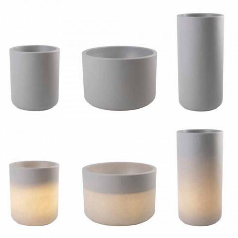 Jarrón con iluminación de jardín o sala de estar en color de diseño moderno - Cilindrostar