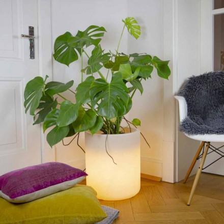 Florero con Iluminación Solar o Diseño Led para Interior o Exterior - Cilindrostar