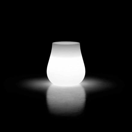 Jarrón Luminoso para Diseño Exterior Drop en Polietileno Made in Italy - Monita