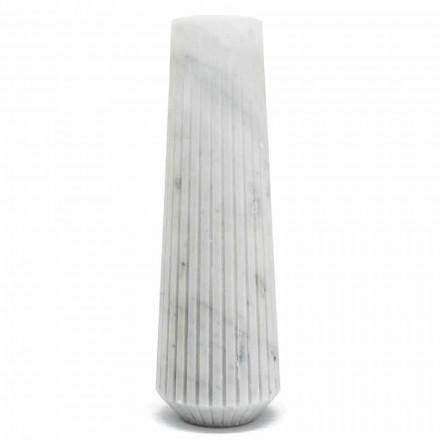 Jarrón decorativo moderno de mármol blanco de Carrara hecho en Italia - El Cairo