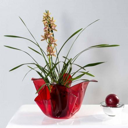 Florero multiusos interior / al aire libre rojo de Pina, diseño moderno hecho en Italia