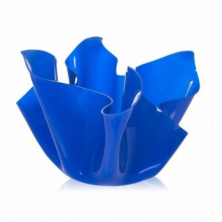 Maceta multipropósito exterior / interior Pina azul, diseño moderno, hecho en Italia