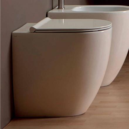 Inodoro de cerámica de diseño moderno blanco Shine Square H50 sin aro