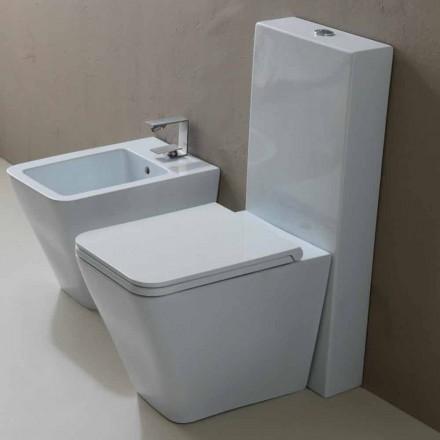 Diseño moderno de cerámica blanca WC Sun Square, hecho en Italia.