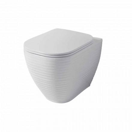 Inodoro de diseño en cerámica blanca o coloreada. Trabia.