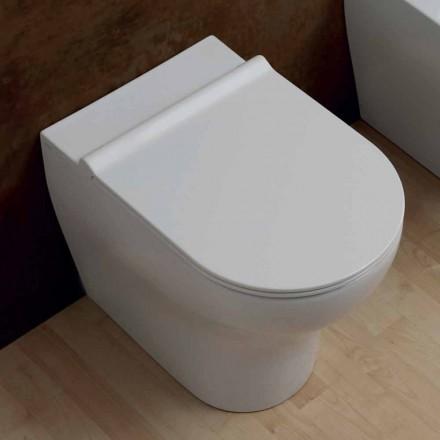 Inodoro de cerámica blanco Star 54x35cm hecho en Italia, diseño moderno