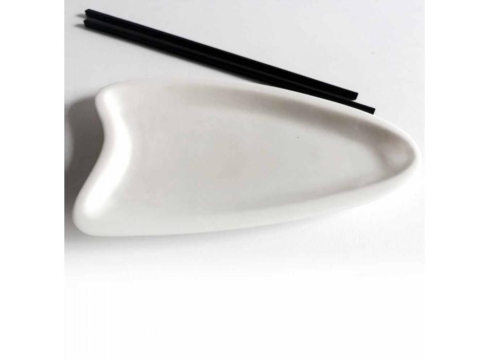 Bandeja de cocina artesanal en mármol blanco de Carrara Made in Italy - Portos