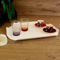 Bandeja de cocina o tabla de cortar en Corian blanco Diseño Made in Italy - Ivanova
