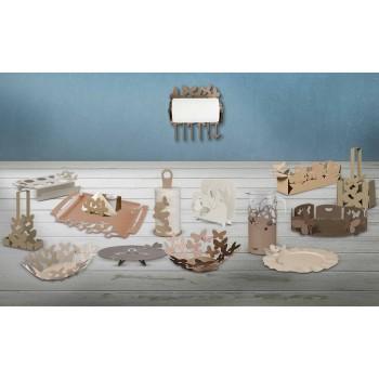 Bandeja de servicio de diseño de hierro, producción artesanal italiana - Leiden