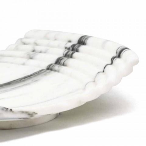 Bandeja decorativa curvada en mármol Arabescato Made in Italy - Clifton