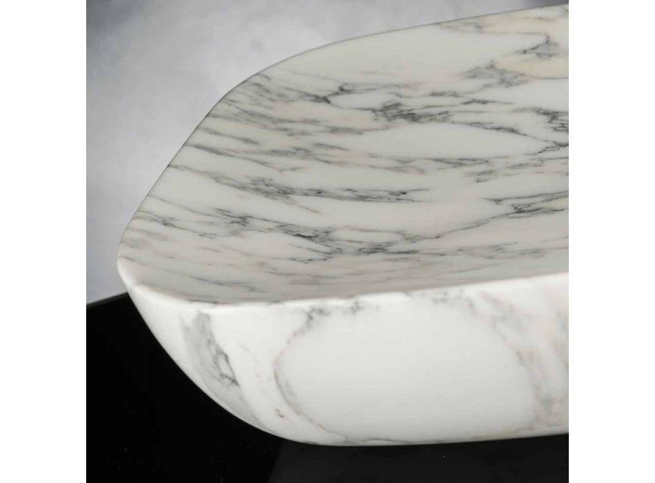 Bandeja de diseño en mármol Arabescato White Carrara Made in Italy - Rock