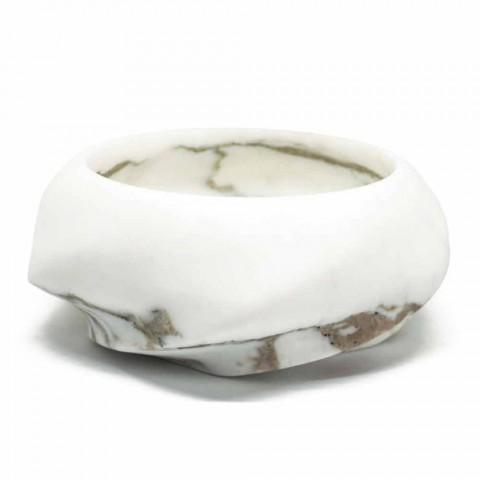 Bandeja redonda de diseño en mármol Arabescato Made in Italy - Casimir