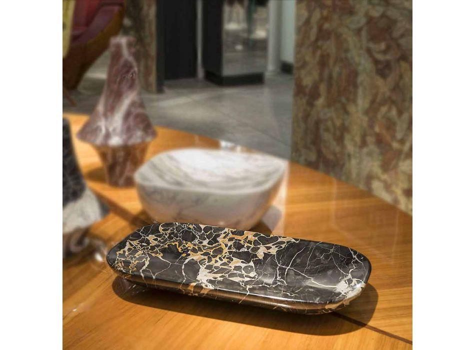 Bandeja elegante en mármol de Portoro Made in Italy - Ethereal