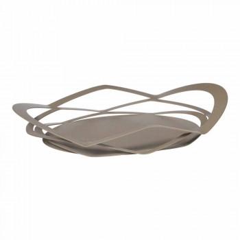 Bandeja de diseño moderno en hierro hecho a mano, hecho en Italia - Futti