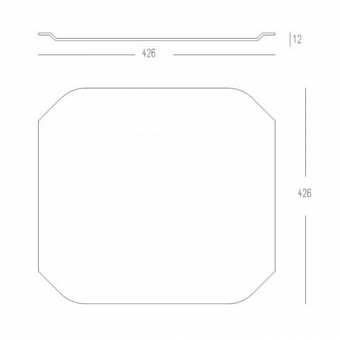 Tabla de cortar de cocina con bandeja cuadrada de Corian blanco con esquinas - Ivanova