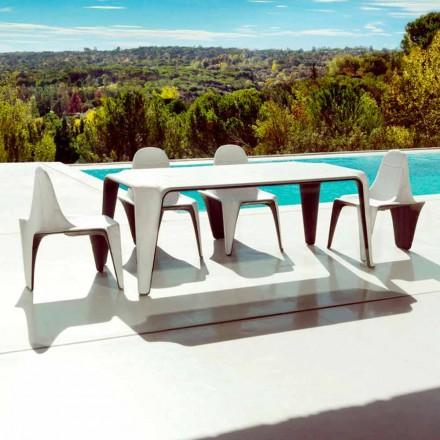 Mesa de jardín Vondom F3 L190xP90cm en polietileno, diseño moderno
