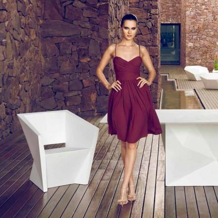 Vondom Faz sillón de jardín lacado blanco con diseño moderno
