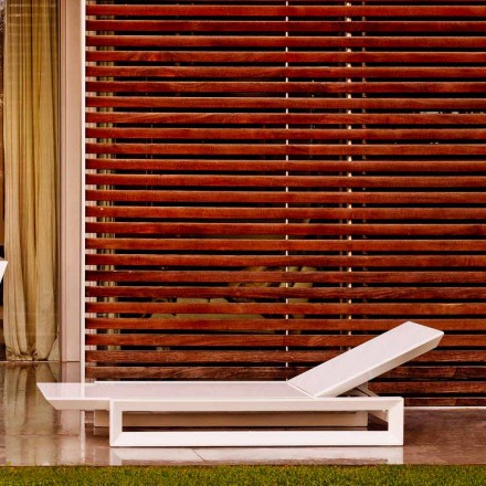 Vondom Chaise longue de diseño en marco de polietileno blanco