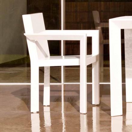 Vondom Estructura de silla de jardín con reposabrazos en resina de polietileno, 2 piezas