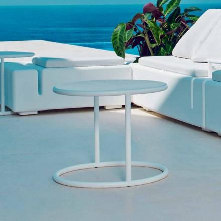 Mesa de jardín redonda de acero Vondom Kes, diseño moderno