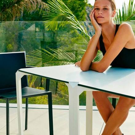 Mesa de jardín cuadrada de Vondom Quartz, diseño moderno, 2 piezas