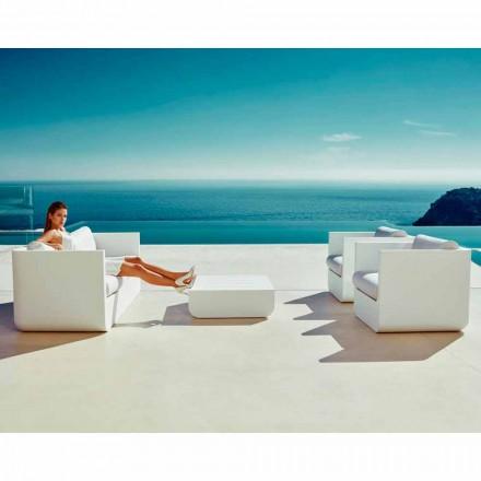 Sala de estar al aire libre blanca de Vondom Ulm, diseño moderno