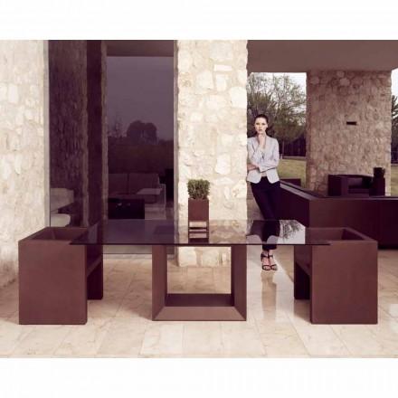 Vondom Vela sillón de jardín de diseño moderno, acabado en bronce